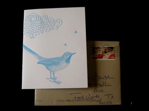 Letterpress Card, Sesame Letterpress