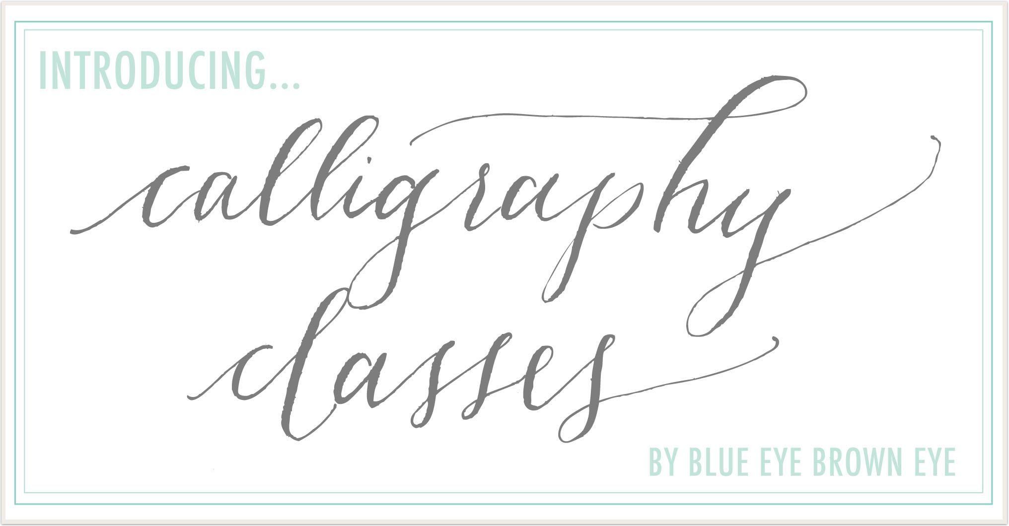 Dallas Calligraphy Class Blue Eye Brown Eye