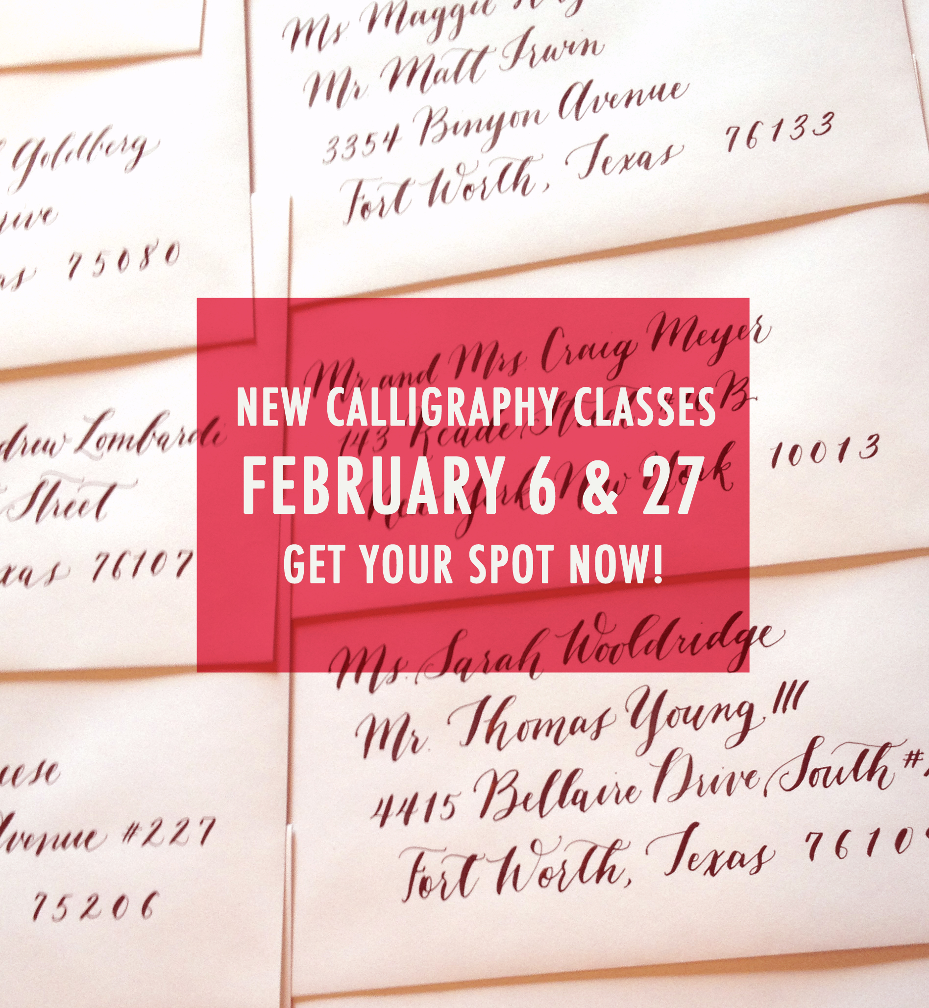 February Calligraphy Classes Are Open Blue Eye Brown Eye