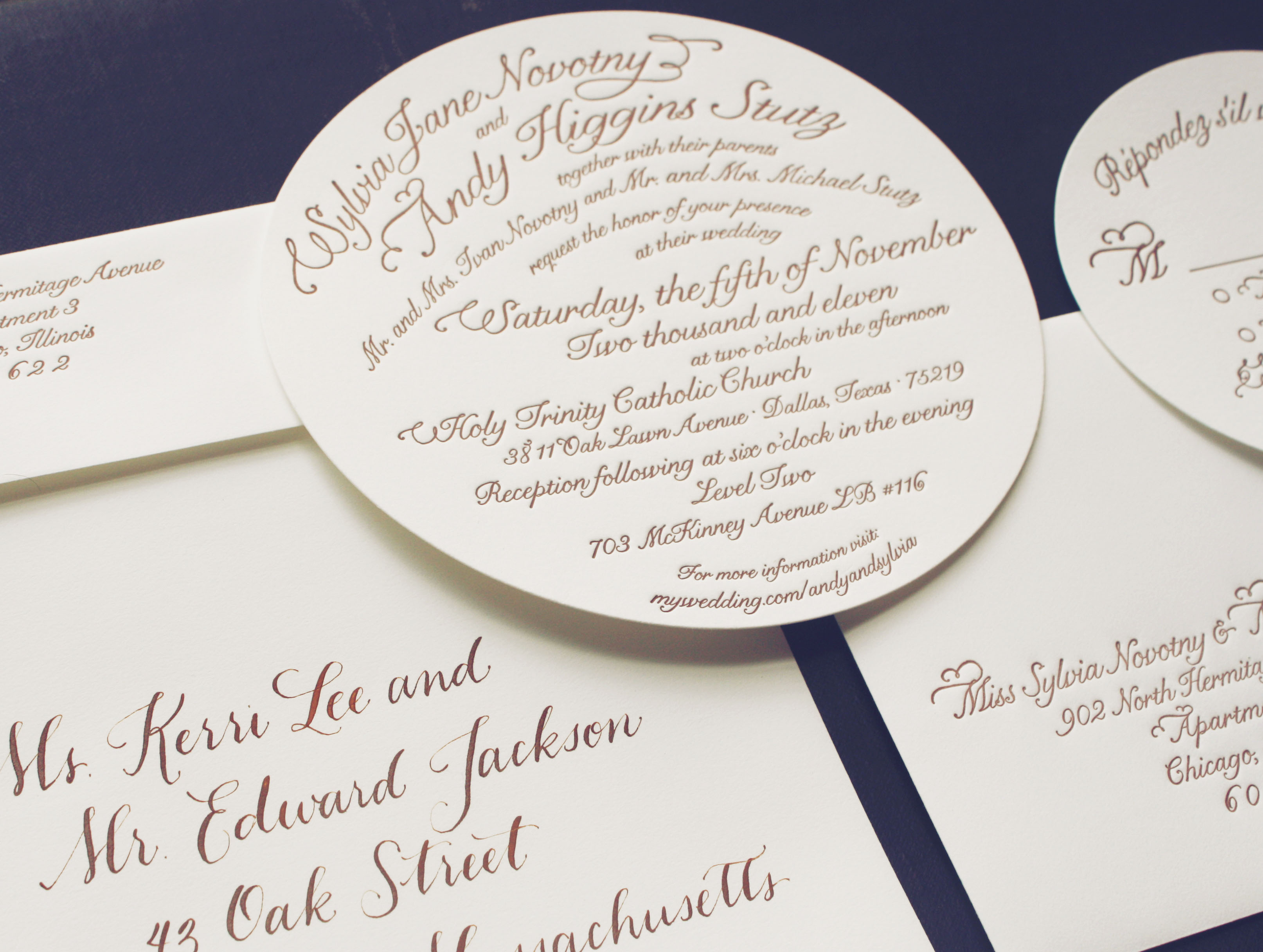 round wedding invitations blue eye brown eye