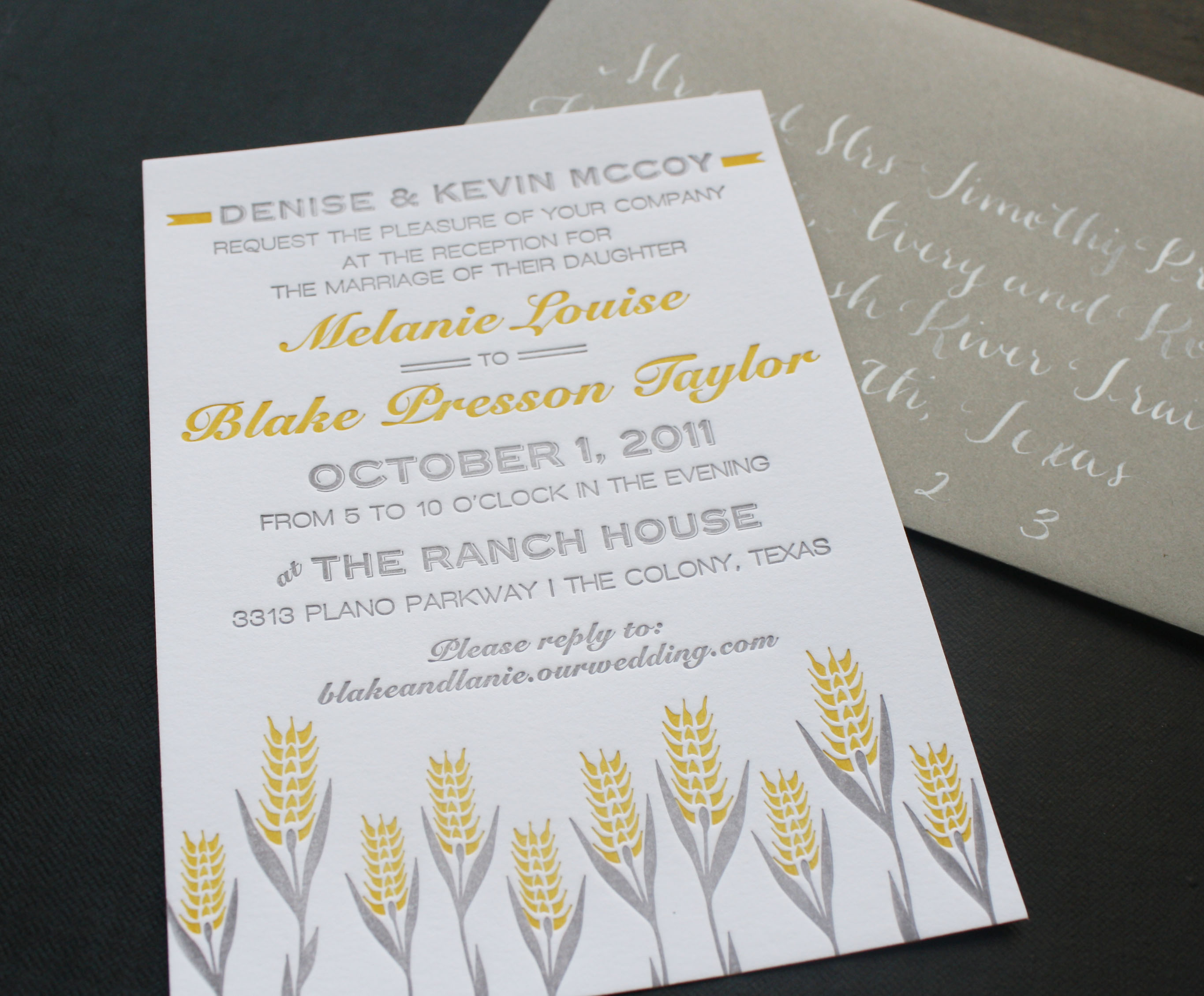 ranch wedding invitation – Blue Eye Brown Eye
