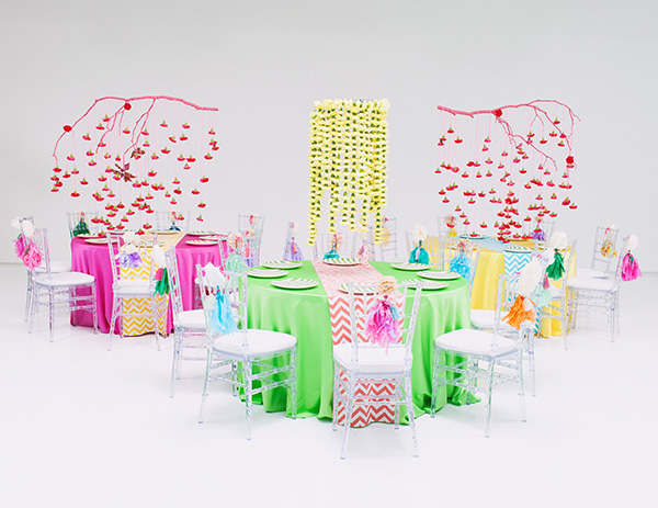 Super colorful reception ideas