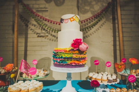 mexican fiesta wedding dessert table