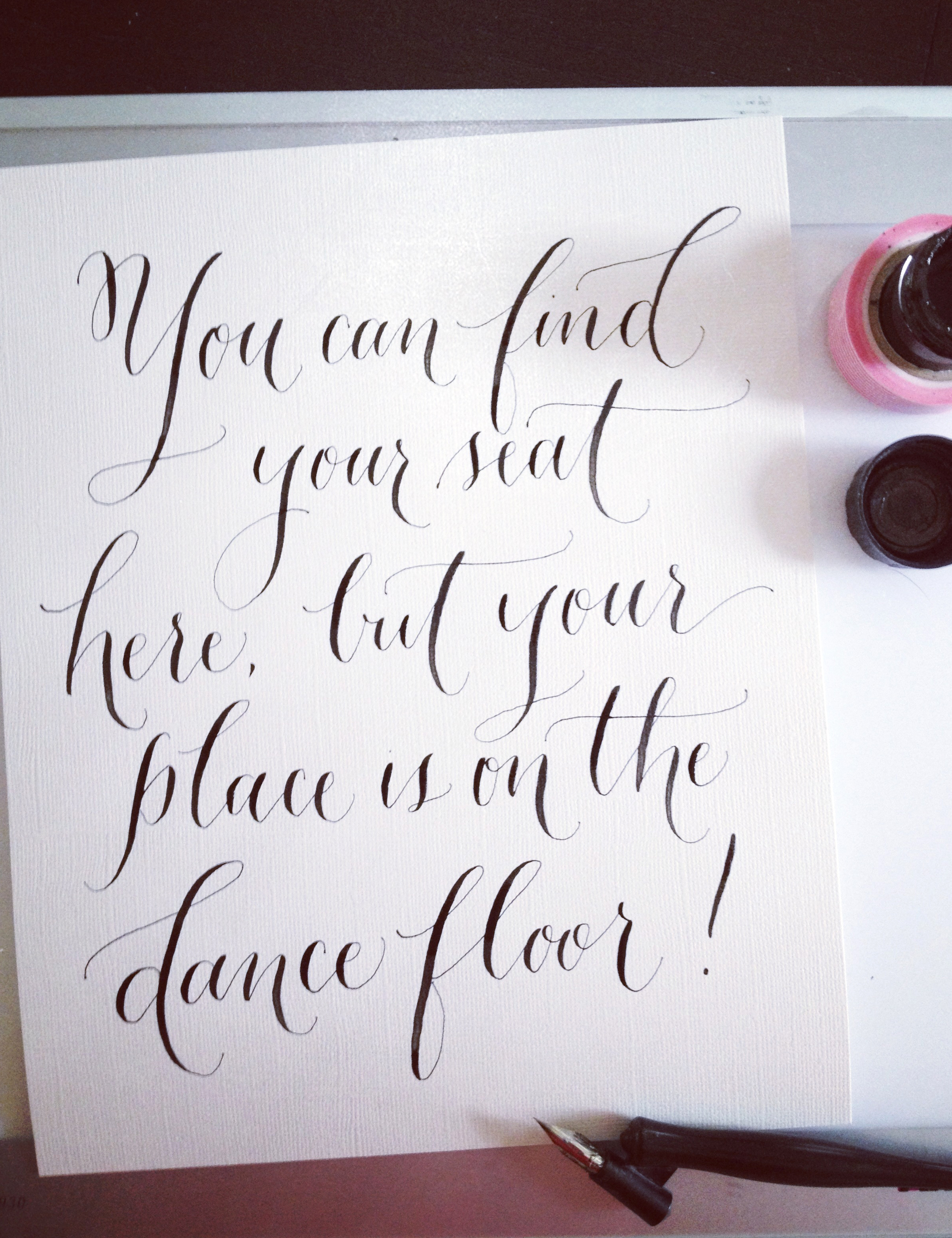 Blue-Eye-Brown-Eye-Blog_Dance-Floor-Calligraphy