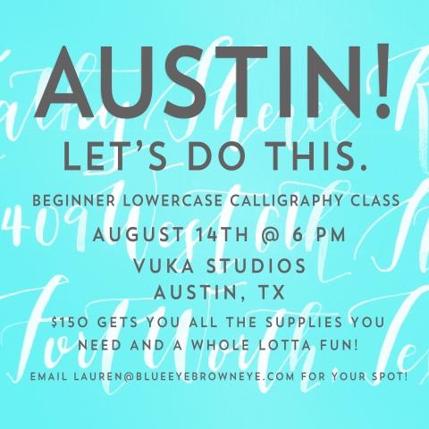 Austin Calligraphy Class