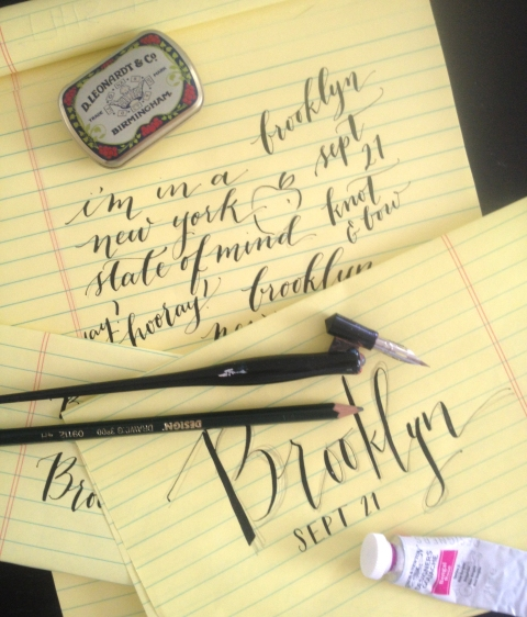Brooklyn Calligraphy Class